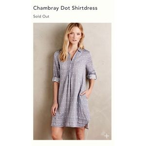 Anthropologie Isabella Sinclair Chambray Dress M